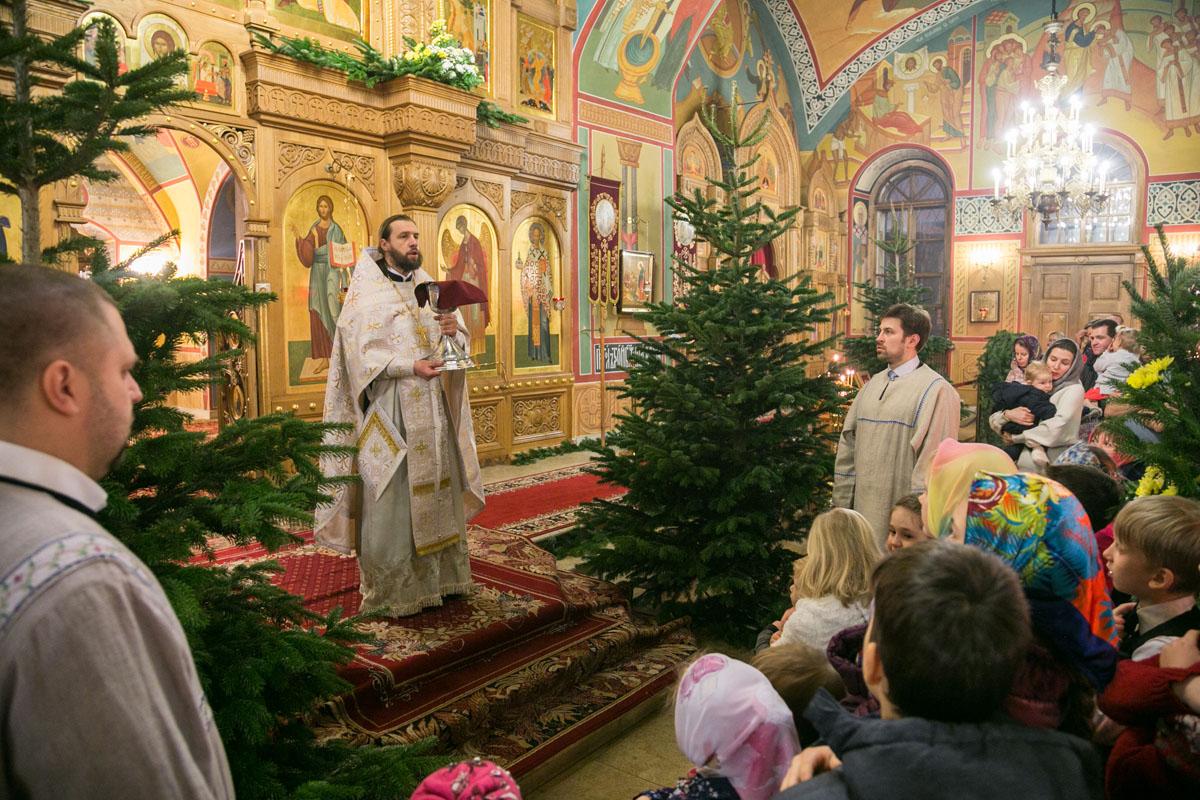 Рождество Христово в храме святителя Николая в Покровском